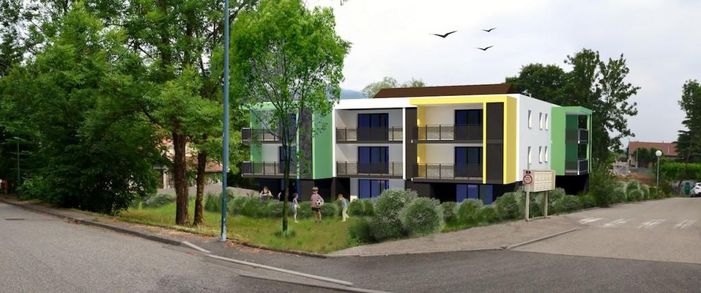 14 logements collectifs en accession libre aix les bains. Black Bedroom Furniture Sets. Home Design Ideas